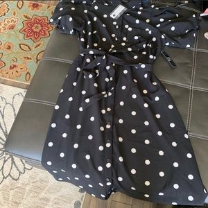 2 New York & Company Polka Dot Dresses